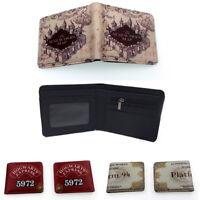 Men's Bifold Wallet Harry Potter Short Wallet Card Coin Bag Wallet Gift Otaku