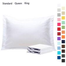 1800 Microfiber Pillow Shams Set of 2 Standard Queen King Size Pillowcases