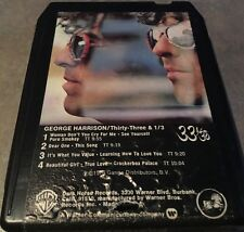 George Harrison 33 1/3 8-Track Tape Rare New Pad Classic Rock Tested A+ Sound