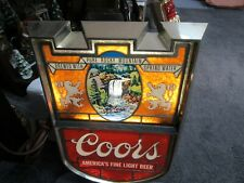 Vintage Coors Light Up Wall Sign Nice Colors Waterfall Scene Rare