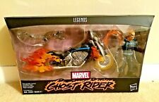 HASBRO MARVEL LEGENDS GHOST RIDER WITH MOTORCYCLE AND FLAME EFFECTS & CHAIN