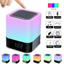 Elegante Reloj Despertador Con Bocina Bluetooth Y Lampara De Luz De 48 Colores