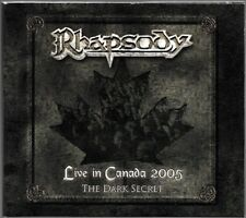 CD + DVD ALBUM / RHAPSODY - LIVE IN CANADA 2005 THE DARK SECRET / COMME NEUF