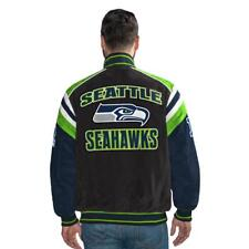 G-III Officially Licensed NFL Seattle Seahawks Varsity Suede Leather Jacket  XL 5130355cd