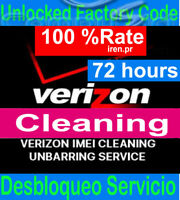 Verizon IMEI FIX ESN Unbarring Service iPhone xs max, x, 6 7 8 Samsung CLEAN