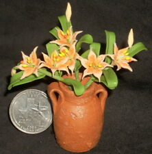 Potted Cut Tiger Lilly Orange 1:12 Miniature Flower Market P-OS-Lily #5345