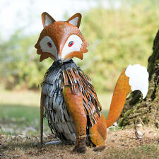 Large 40cm Fox Metal Garden Ornament Outdoor Animal Lawn Sculpture Statue Gift