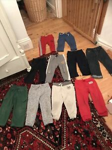 Toddler Boys GAP, Ralph Lauren, Jasper Conran Joggers Bundle (10 Pairs), Age 3-4