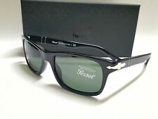 NEW AUTHENTIC PERSOL PO3048S 95/31 BLACK/CRYSTAL GREEN 55mm SUNGLASSES