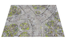 """2'x3' Medieval Town Map, 1"""" Gridlines Gaming Mat dnd D&D roleplay RPG pathfinder"""