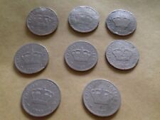 KPHTH CRETE CRETAN STATE 1900 ( LOT OF 8) -  10 LEPTA  COINS.