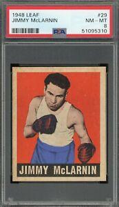 1948 Leaf #29 Jimmy McLarnin HOF PSA 8!!