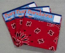 Bandana 3-pack Paisley Red