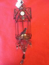 Katherine's Collection Raven In A Bird Cage Ornament--discontinued