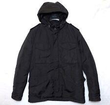 C.P. COMPANY field jacket black 4 pocket dynafill mens coat 48 M CP hooded m65