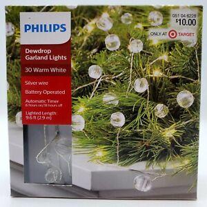 Philips Dewdrop Garland String Lights 30 ct Warm White Sphere