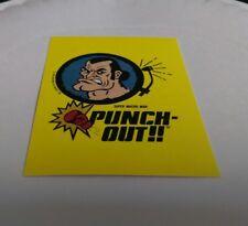 1989 Nintendo Sticker Punch Out Super Macho Man Boxer Pugilist Boxing decal Box
