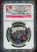 2015 CANADA 1 OZ $20 SUPERMAN - #28 - SILVER COIN -  NGC PF70 UC EARLY RELEASES