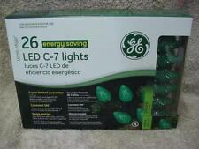 STRING OF GE 26 LED C-7 CHRISTMAS LIGHTS NEW GREEN