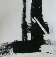 "JOSE TRUJILLO ART Acrylic Painting 9X9"" Black & White Expressionist SQUARE 116 7"