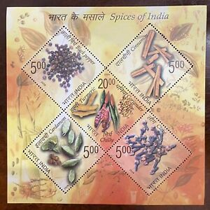 2009 INDIA MINIATURE SHEET - SPICES OF INDIA MNH