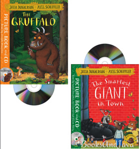 The Smartest Giant in Town & Gruffalo by Julia Donadson (2 Paperback /Audio CDs)