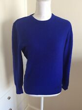 BENETTON MADE IN ITALY - ROYAL BLUE 100% WOOL SWEATER, SIZE MEDIUM