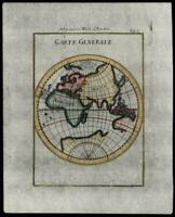 World Africa Europe Asia giant Southern continent 1672 Mallet miniature map