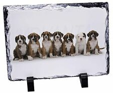 Boxer Dog Puppies Photo Slate Christmas Gift Ornament