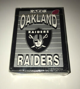 Vintage NFL Oakland Raiders Playing Cards: Good Stuff Corp (1994) Factory Sealed