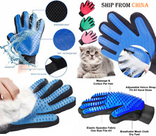 1 Dog Cat Pet Deshedding Gloves Brush Cleaning Hair Removal Glove Massage Gant ;