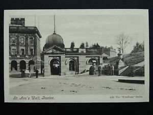 Derbyshire BUXTON St. Ann's Well & Pump (side view) c1904 Postcard by Wyndham