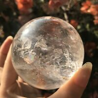 US SELLER 68mm Natural Polished Clear Quartz Crystal Sphere Ball HOLIDAY GIFT!