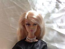 Barbie Schmuck, doppelte Perlenkette weiß #2  für Vintage/ Silkstone/ OOAK