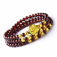 Charm Rose Pomegranate Multi-layer Attract Wealth Bracelet Good Luck Jewelry Hot