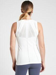 ATHLETA  Oxygen 2.0 Tank Top White M Medium NWT #657684 Yoga Workout