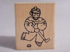 JRL Designs RUBBER STAMP #CC13 January - Zach ICE HOCKEY RUBBER STAMP - Puck