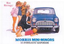 Morris Mini Minor MODERN postcard issued by Robert Opie