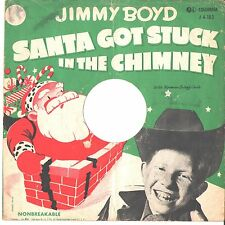 JIMMY BOYD--PICTURE SLEEVE ONLY---(SANTA GOT STUCK IN THE CHIMNEY)--PS--PIC--SLV