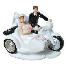 Brautpaar Hochzeitspaar Brautpaar  Motorrad mit Beiwagen Tischdeko Tortenaufsatz
