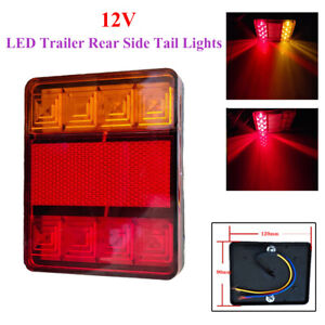 1× 8 LED Rear Tail Lights Lamps Lorry Truck Trailer Bus Engineering Vehicle 12V