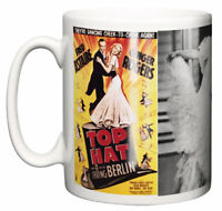 Movie Musical Mug, Top Hat 1935 Poster & Scene Fred Astaire Ginger Rogers Gift