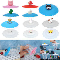 Silicone Heat-resistant Anti-dust Cup Lid Glass Drink Cup Cover Suction Food Lid