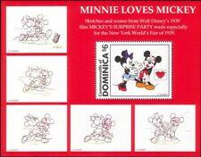 Dominica 1997 Disney/Mickey/Love/Hearts/Animation/Cartoons/Films 1v m/s (n26750)