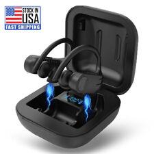 Running Earphone Sport Earbuds Bluetooth Wireless with Ear Hook Charging Display