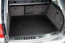 MERCEDES ML W163 (1997 TO 2005) TAILORED CARPET BOOT MAT WITH BLACK TRIM [2946]