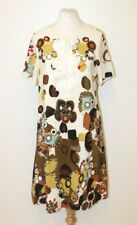 CHLOE Femmes Coloré Imprimé À Mancherons Motif Floral à Volants Maj Mini Robe UK14