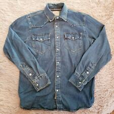 Levi's Denim Pearl Snap Western Shirt Rick Grimes Cosplay Levi Shirt