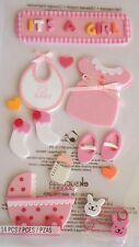 JOLEE'S BOUTIQUE LE GRANDE BABY GIRL FOAM Scrapbook Craft Stickers Dimensional