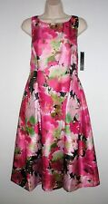 NWT MSRP $148  TAHARI by ASL Women's Nathan Dress, Black Pink Multicolor, Size 6